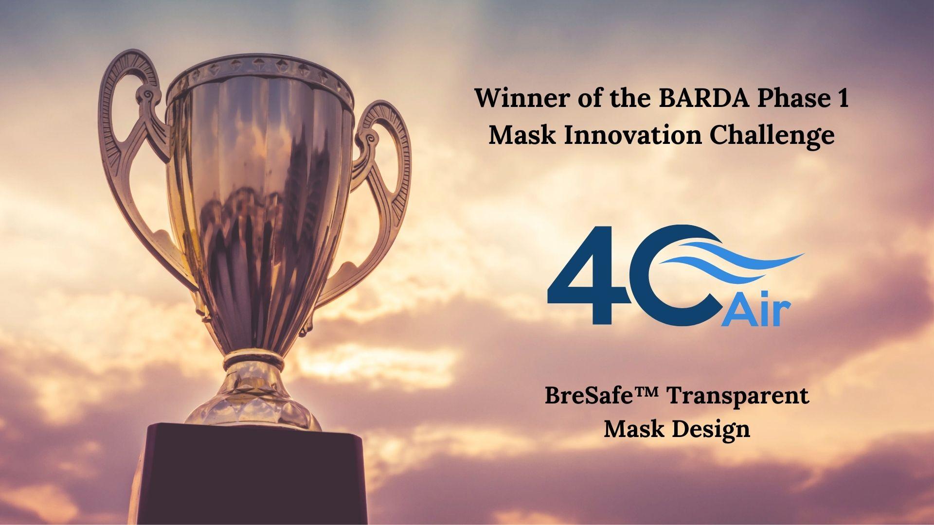 4C Air wins phase 1 BARDA Mask Challenge